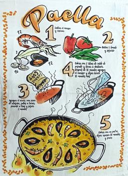 Paño cocina Sarga Paella 100% Sarga algodón.