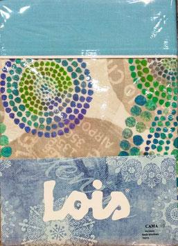 Sabanas Lois 105 cm. verde azul turquesa