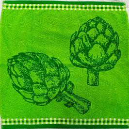 Paño cocina Trovador Verde Alcachofas 100% algodón