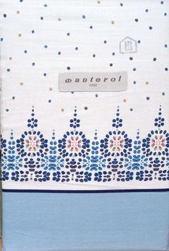 Sabanas Manterol 135 cm. color azul 100% algodón
