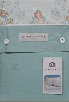 Sabanas Manterol 150 cm. alta calidad 100% algodón . verde claro