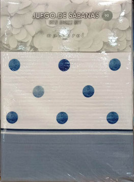 Sabanas Manterol 90 cm. azul