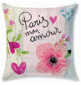 Funda cojin algodón 60x60 Paris mon amour