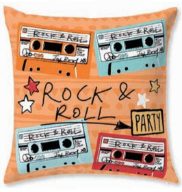 Funda cojin 60x60 rock & roll