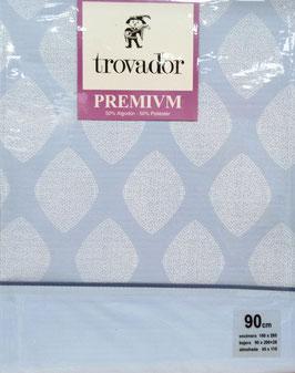 Sabanas Trovador 90 cm. azul Calcuta