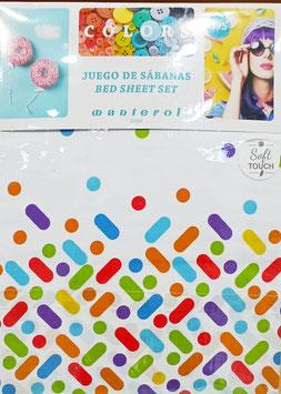 Sabanas Manterol 90 cm. colores