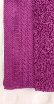 Toallas 100% algodón Peinado 600grs/m. Color Berenjena. 4 medidas disponibles.