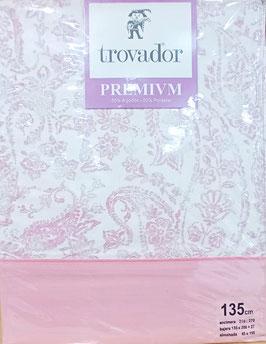 Sabanas Trovador 135 cm. color rosa
