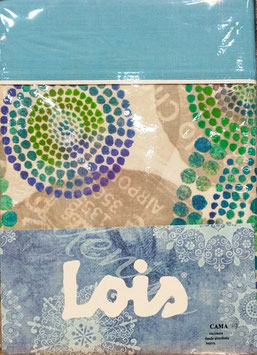 Sabanas Lois 150 cm. verde azul turquesa
