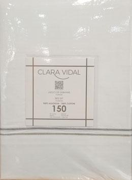 Sabanas Manterol 150 cm. alta calidad 100% algodón . Blanco