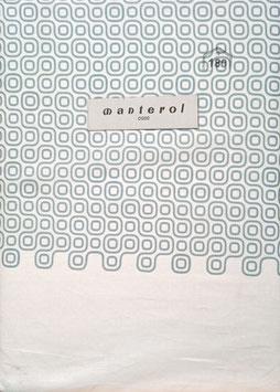 Sabanas Manterol 180 cm.  50% algodón, 50% poliester. Cadenas Color Azul y blanco