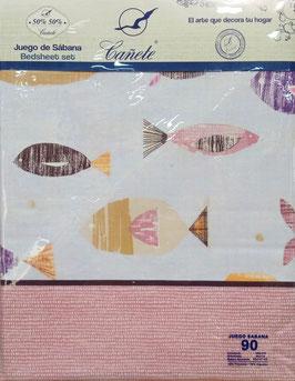 Sabanas Cañete 90cm. color Lila
