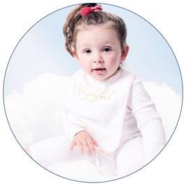 Engelsgleich Babylätzchen | rosa