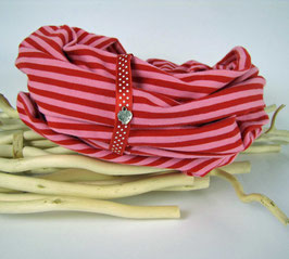 Loopschal Stripes Pinky