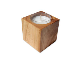Kerzenhalter CUBO aus Olivenholz
