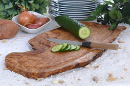 Steakbrett RUSTIKAL (L40-44 cm) mit Saftrille & ohne Griff