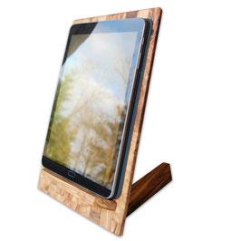 Tablet-Halter aus Olivenholz
