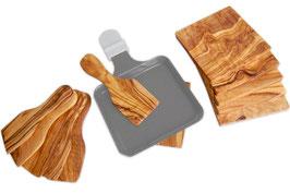 Raclette-Schaber und Untersetzer - Komplett-Set für 6 Personen