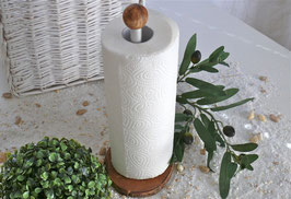 Küchenrollenhalter aus Olivenholz