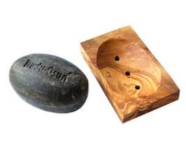 Seifenablage ECKIG klein mit Pads