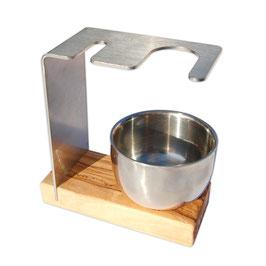 Rasierständer/-halter SYLT PLUS für Pinsel & Rasierhobel inkl. Metalltiegel