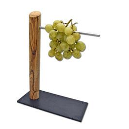 Weintraubenhalter aus Olivenholz