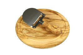 Käsehobel DESIGN mit Käsebrett rund, 22 cm