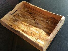 Tablett zum Servieren aus Olivenholz rustikal 44 x 30 cm