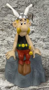 Asterix Kasseli sitzend auf Fels