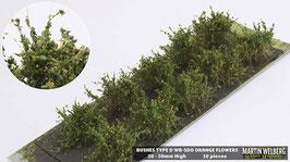 WB-SDO orange Flowers je 10 Stck. 20-30mm Hoch
