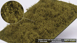 WB-SFM moss Green Stck. 15x21cm jeweils 2-22mm Hoch