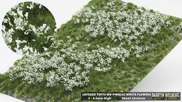 WB-PWH242 jeweils white Flowers davon Stck. 15x21cm von 2-4.5mm Hoch