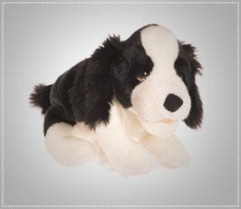 Kleiner Hund schwarz/weiss W180