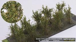 WB-SBO orange Flowers je 10 Stck. 30-50mm Hoch