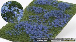 WB-PB242 jeweils blue Flowers per Stck. 15x21cm von 2-4.5mm Hoch