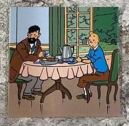 """Tim & Struppi """"Tim mit Haddock beim Frühstück"""""""