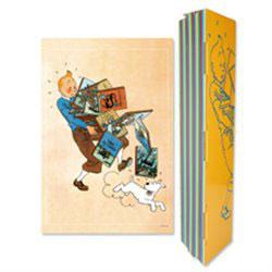 """Tim Und Struppi """"Tim mit Bücherstapel"""""""