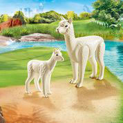 70350 Alpaka mit Baby