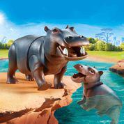 70354 Flusspferd mit Baby