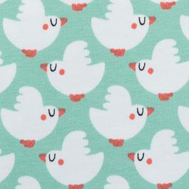 Weisse Vögel auf mint