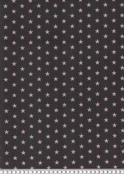 graue Sterne auf Schwarz
