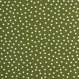 Weisse Punkte auf grün