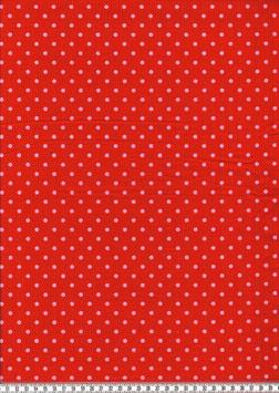 rosa Punkte auf Rot