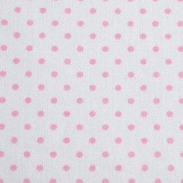 Weiss rosa Tüpfchen