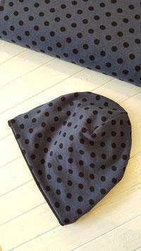 Wendekappe dunkelblau schwarze Punkte