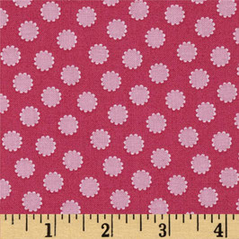 rosa Blumen auf Pink