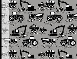 Bagger Traktor grau