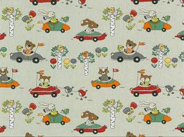 Fuchs, Hase und Bär im Auto