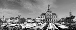Markt Op De Markt (zwart-wit)