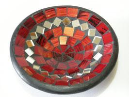 Mosaikschale in rot, grün oder braun